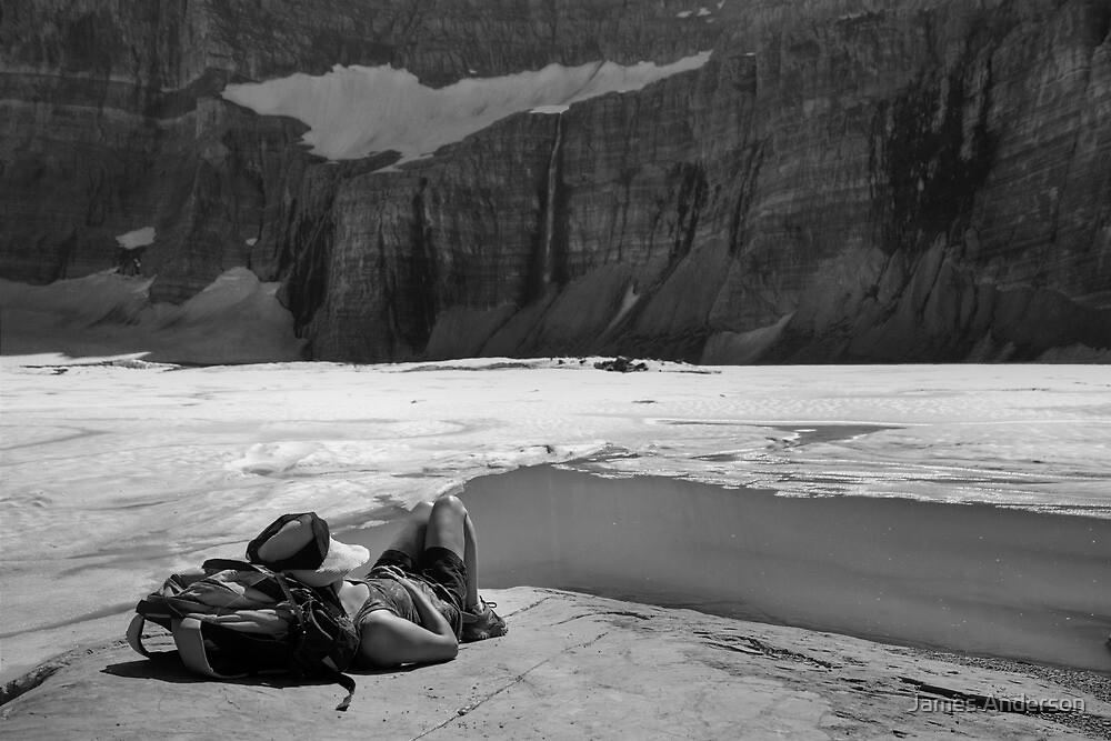 Grinnell Glacier (BW) by James Anderson