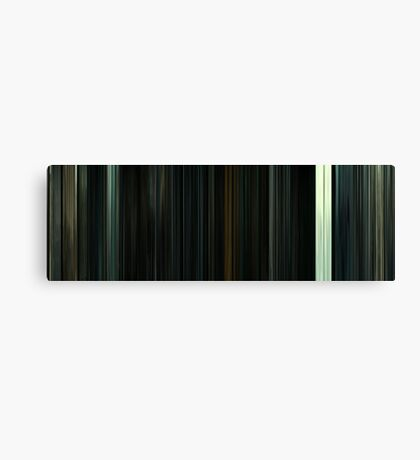 Moviebarcode: Harry Potter and the Deathly Hallows: Part 2 (2011) Canvas Print