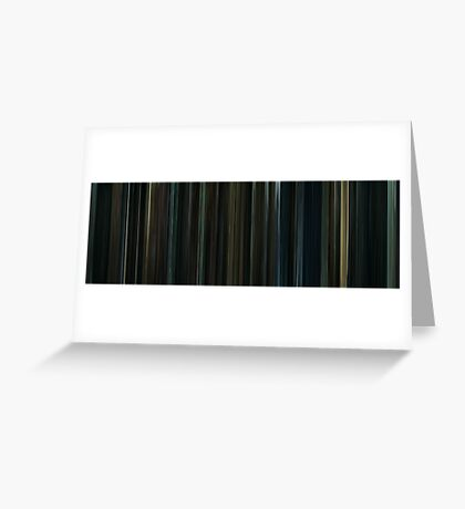 Moviebarcode: Harry Potter and the Deathly Hallows: Part 1 (2010) Greeting Card