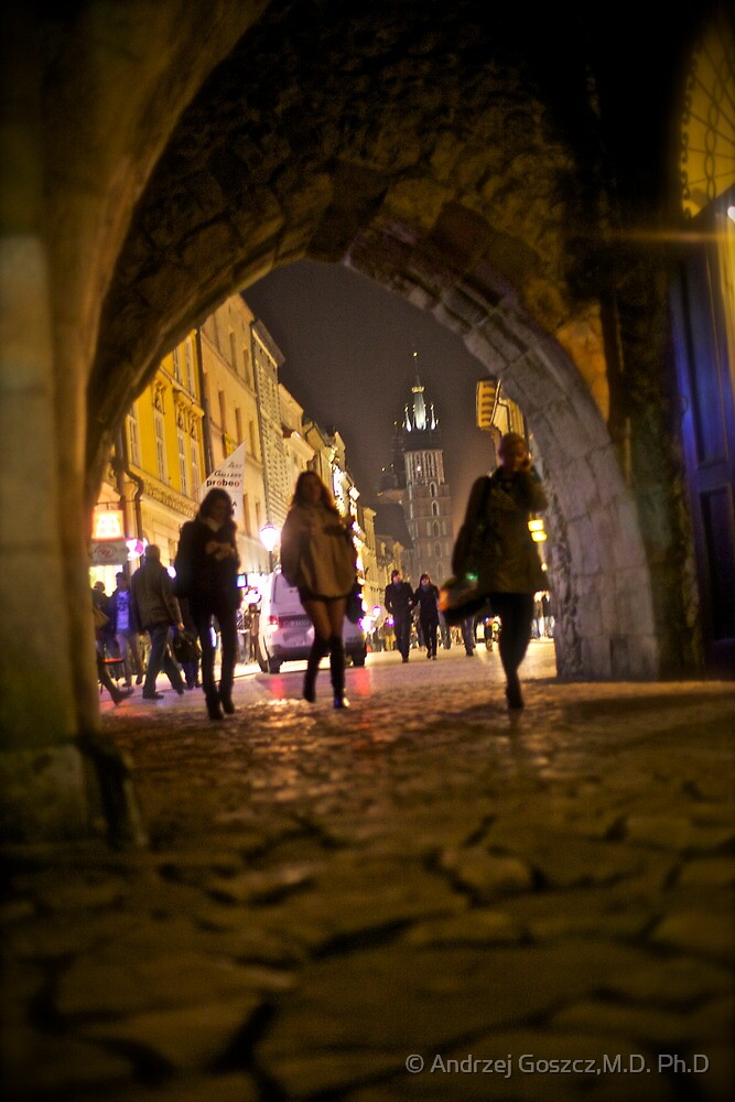 St. Florian's Gate . Brama Floriańska) in Kraków, Poland . of the best-known Polish Gothic towers, and a focal point of Kraków's Old Town. by Brown Sugar. by © Andrzej Goszcz,M.D. Ph.D