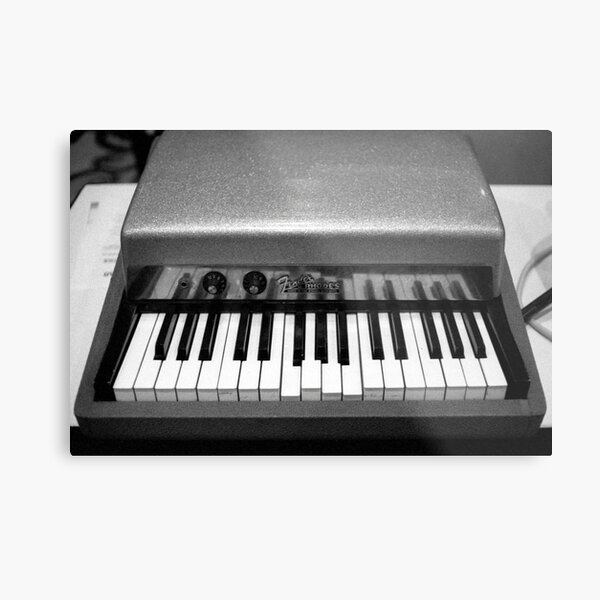Fender Rhodes Electric Piano Metal Print
