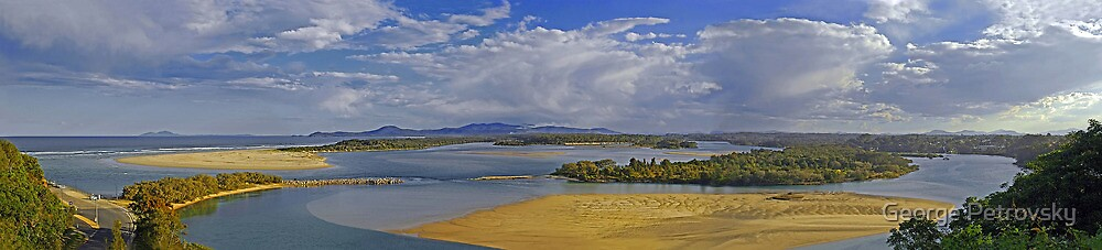 Nambucca River Panorama by George Petrovsky