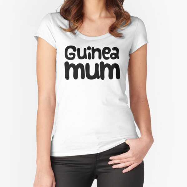 "Guinea Pig Mothers Day Slogan ""Guinea Mum"" Fitted Scoop T-Shirt"