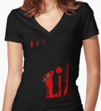 The Masque of the Red Death Women's Fitted V-Neck T-Shirt