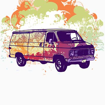 Hippie Van by TowlerArt