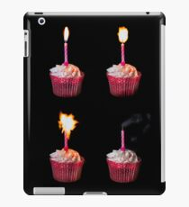 Happy Birthday cake and candles iPad Case/Skin