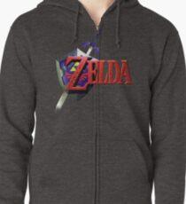 Sudadera con capucha y cremallera Leyenda de Zelda Ocarina del tiempo