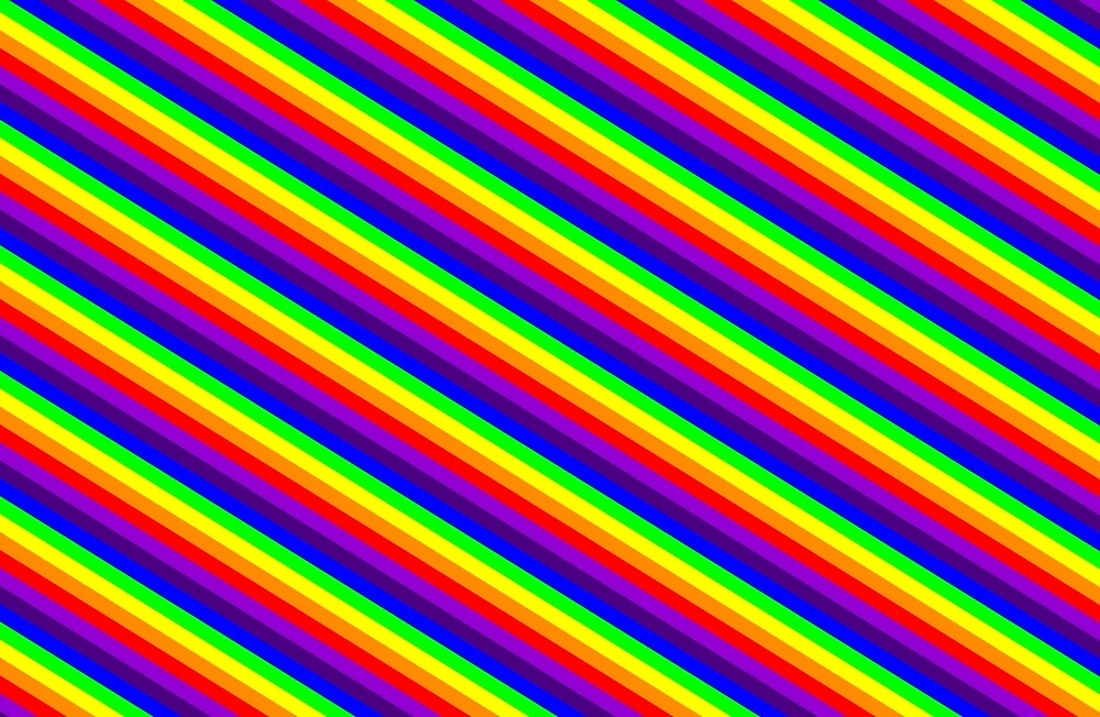 Rainbow Stripes by coveredbydesign