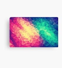 Abstract Polygon Multi Color Cubism Low Poly Triangle Design Canvas Print