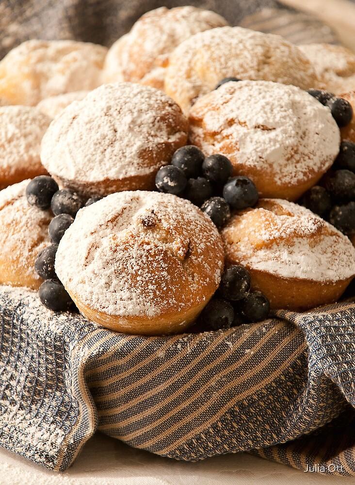 Blueberry Muffins by Julia Ott