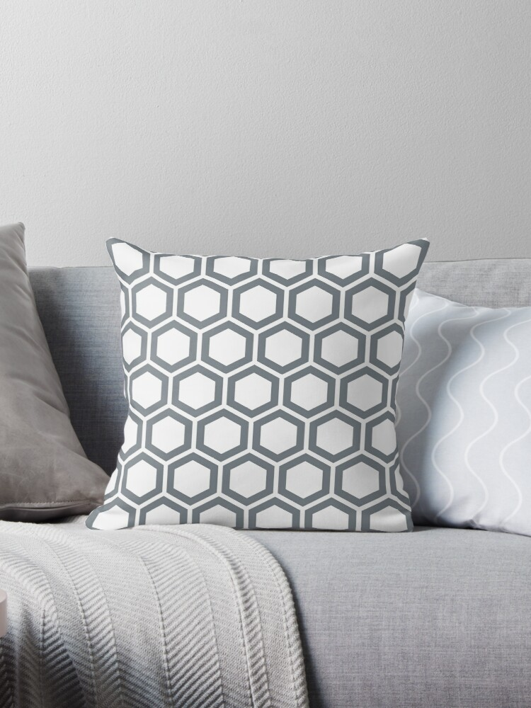 CoolGrey honeycomb pattern on white background by ImageNugget