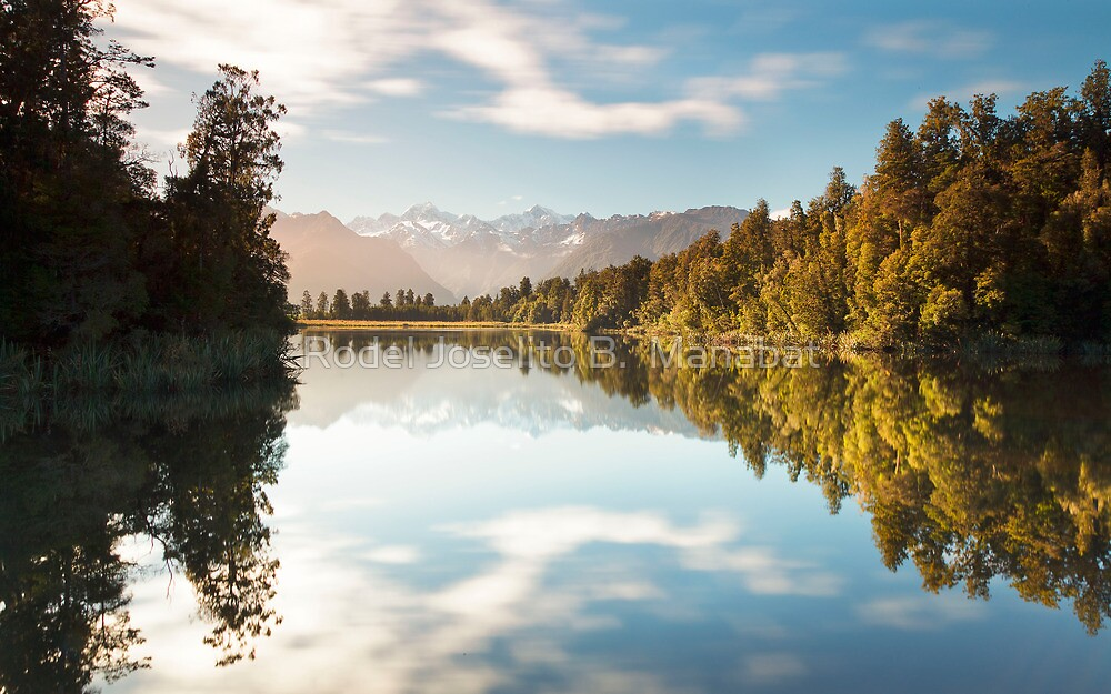 The Colors Of Lake Matheson by Rodel Joselito B.  Manabat