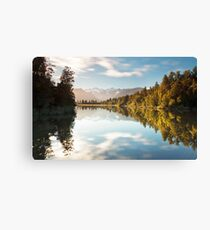 The Colors Of Lake Matheson Canvas Print