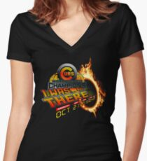 Back to the future day - Cubs win Women's Fitted V-Neck T-Shirt