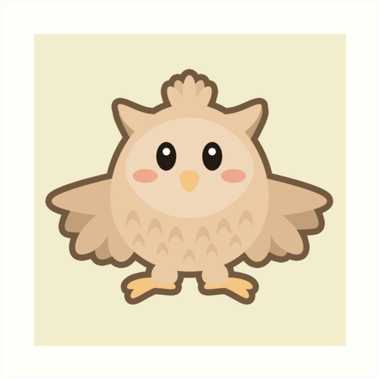 Kawaii Owl by NirPerel