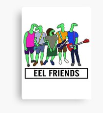 Eel Friends 3 Canvas Print