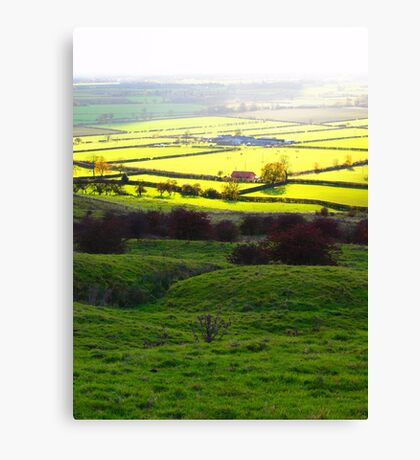 Autumn across the Vale of York Canvas Print