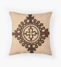 Ethiopian Cross Design - Fabric Throw Pillow