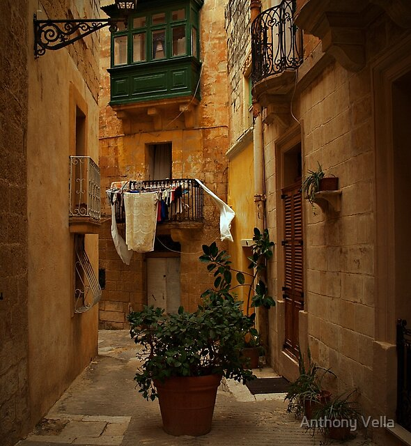Vittoriosa-Malta,  on a Cloudy Day.  by Anthony Vella