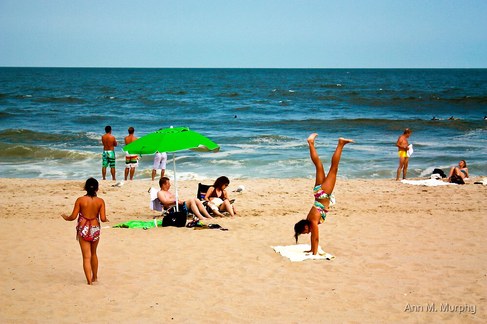 Beach Handstand by Ann M. Murphy
