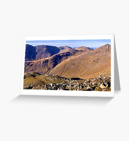 Scafell Pike, Esk Pike, and Bow Fell - The Lake District Greeting Card