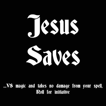 Jesus saves black by DungeonDork
