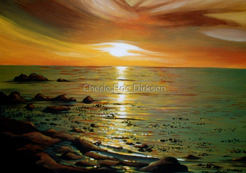 Atlantic Sunset by Cherie Roe Dirksen