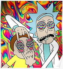 Rick and Morty Eyes Open Trip Poster