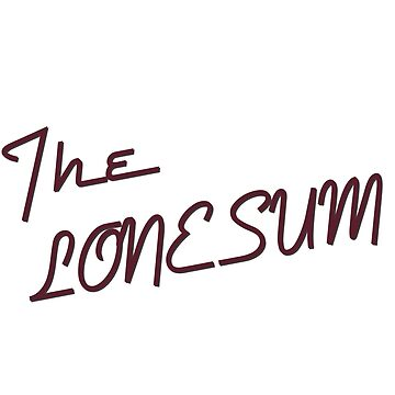 "The Lone Sum - ""I"" by deafmrecords"