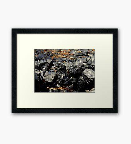 Coal Rocks Framed Print