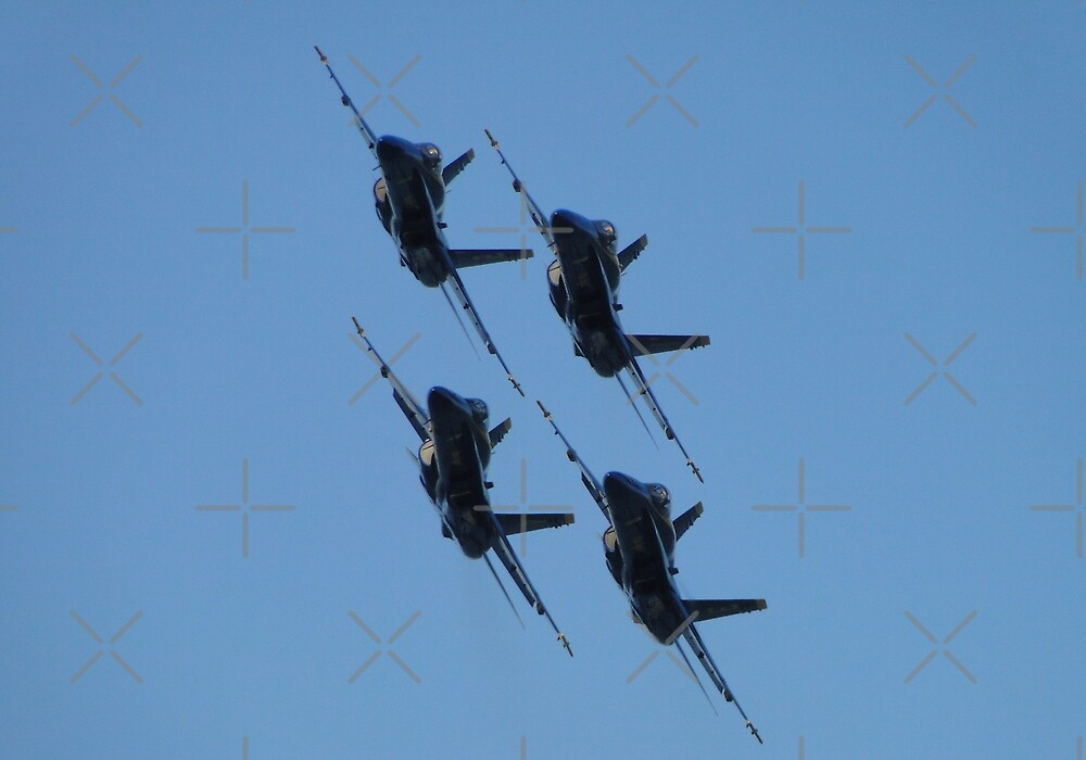 Blue Angels Diamond Pass by Barrie Woodward