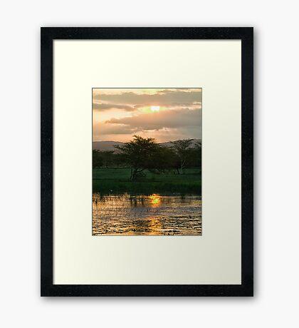Sunset Over The Mzinene River Framed Print