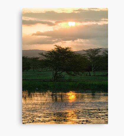 Sunset Over The Mzinene River Canvas Print
