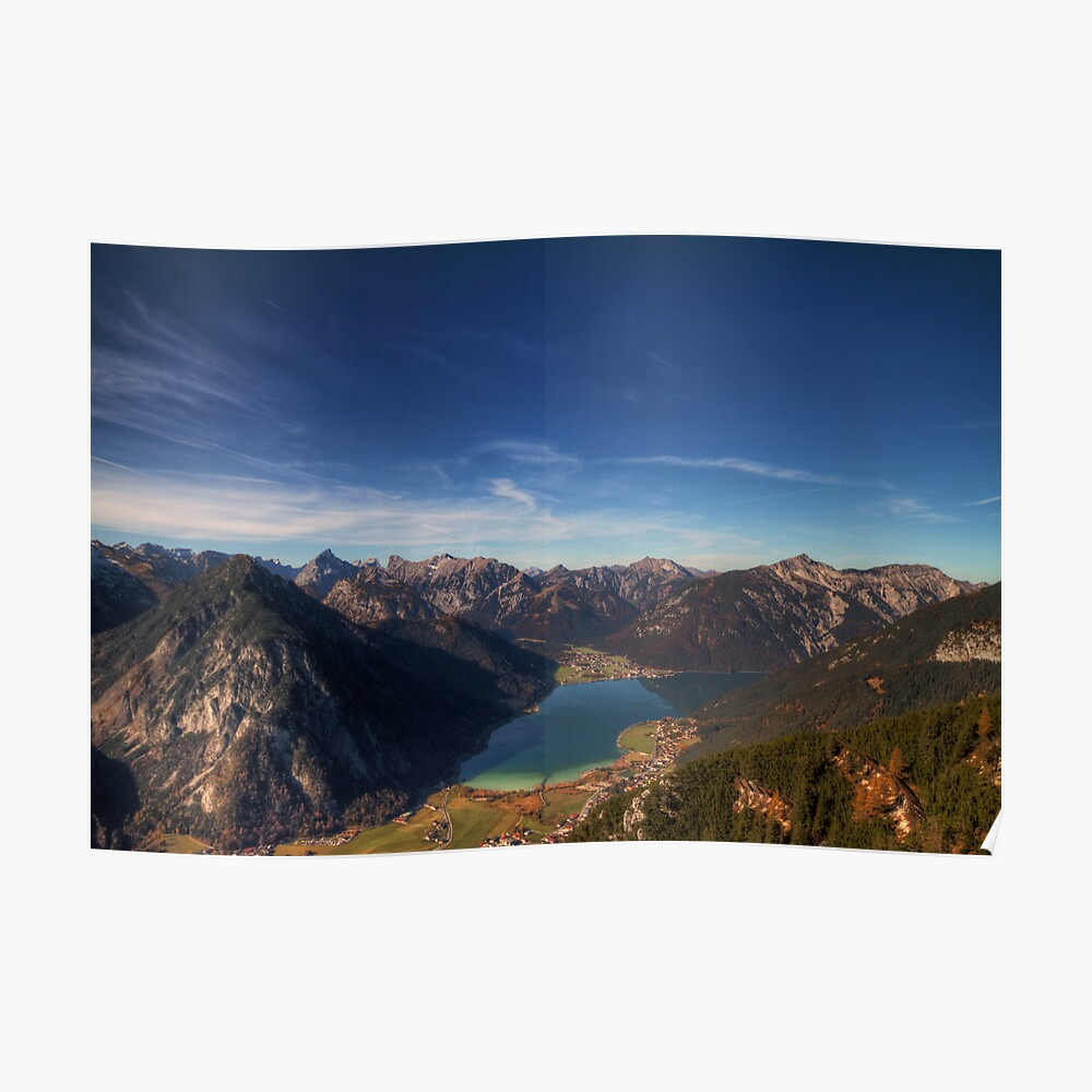 The Achensee below Poster