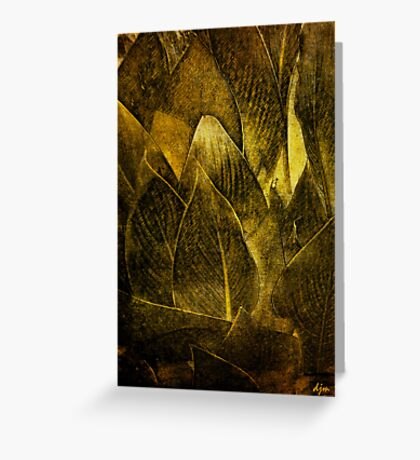 Canna In Gold Greeting Card