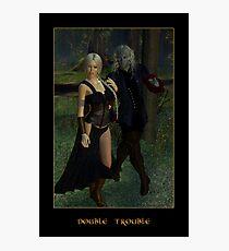 Double Trouble (Mog & Damara) Photographic Print