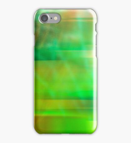 Abstract Art in Green iPhone Case/Skin