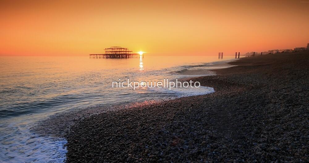 Brighton Beach Sunset by nickpowellphoto