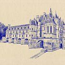 Chateau de Chenonceau by Nigel Fletcher-Jones