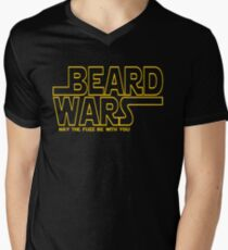 Beard Wars May The Fuzz Be With You Men's Funny Beard Sci-fi  Mens V-Neck T-Shirt