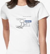 Facebook Womens Fitted T-Shirt
