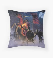 Count Vlad, the Blood Knight Throw Pillow