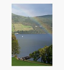 Rainbow at Urquhart Castle, Loch Ness Photographic Print
