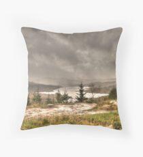 Scottish Highlands Landscape Throw Pillow