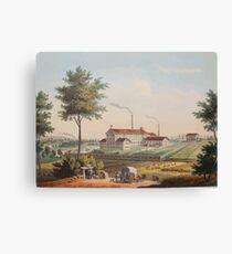 Johannes Läpple Heilbronn Zukerfabrik Eberhard Emminger Ca 1855 Farbig Canvas Print