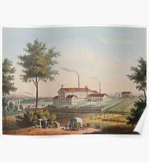 Johannes Läpple Heilbronn Zukerfabrik Eberhard Emminger Ca 1855 Farbig Poster