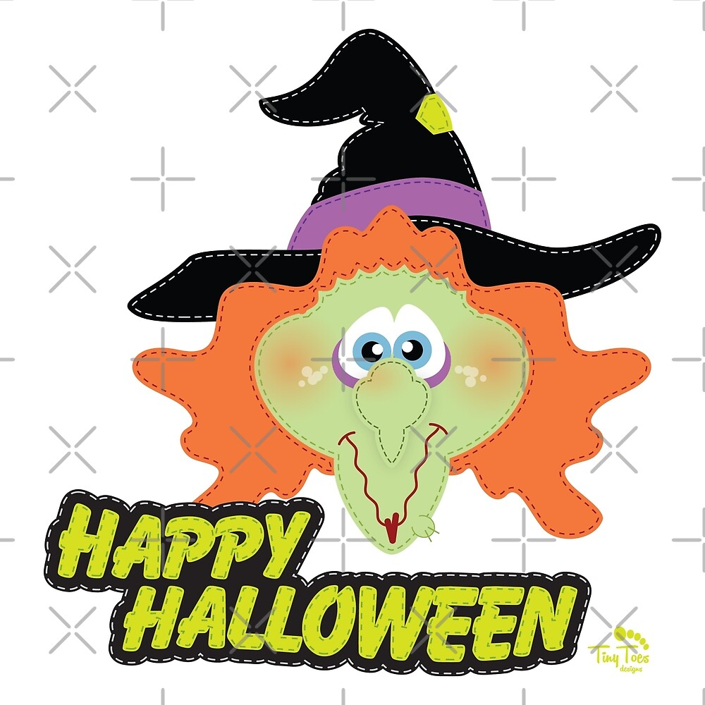 Evil Witch Happy Halloween by BadCatDesigns