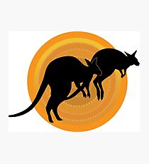 Kangaroos Running Photographic Print