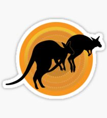 Kangaroos Running Sticker