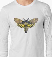 Death's Head Hawkmoth linocut Long Sleeve T-Shirt